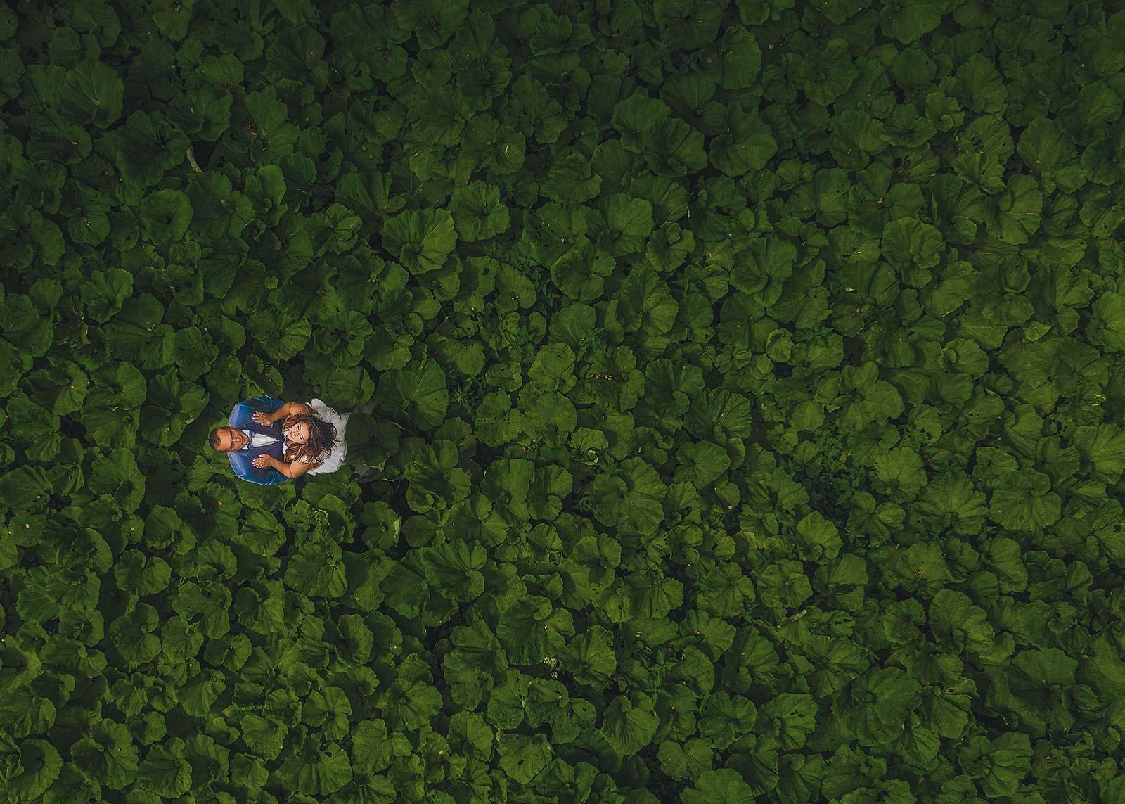zdjęcia ślubne z drona Ostrów wielkopolski