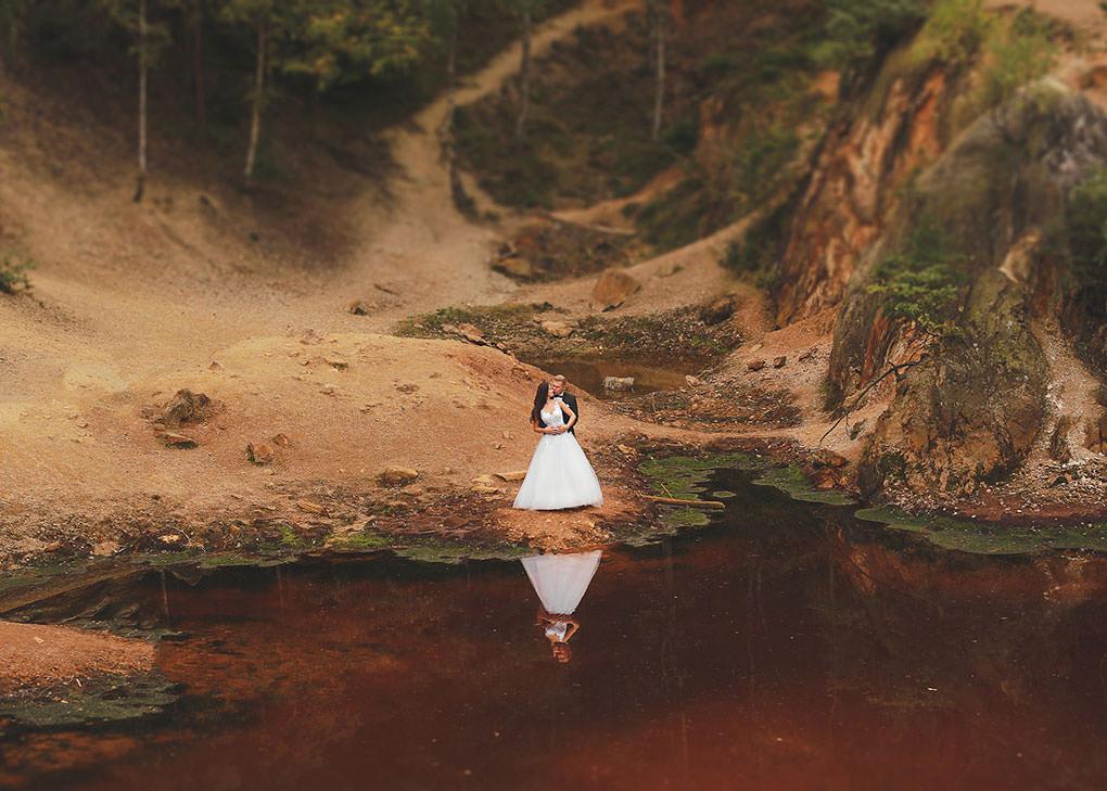 kolorowe jeziorka sesja pary młodej