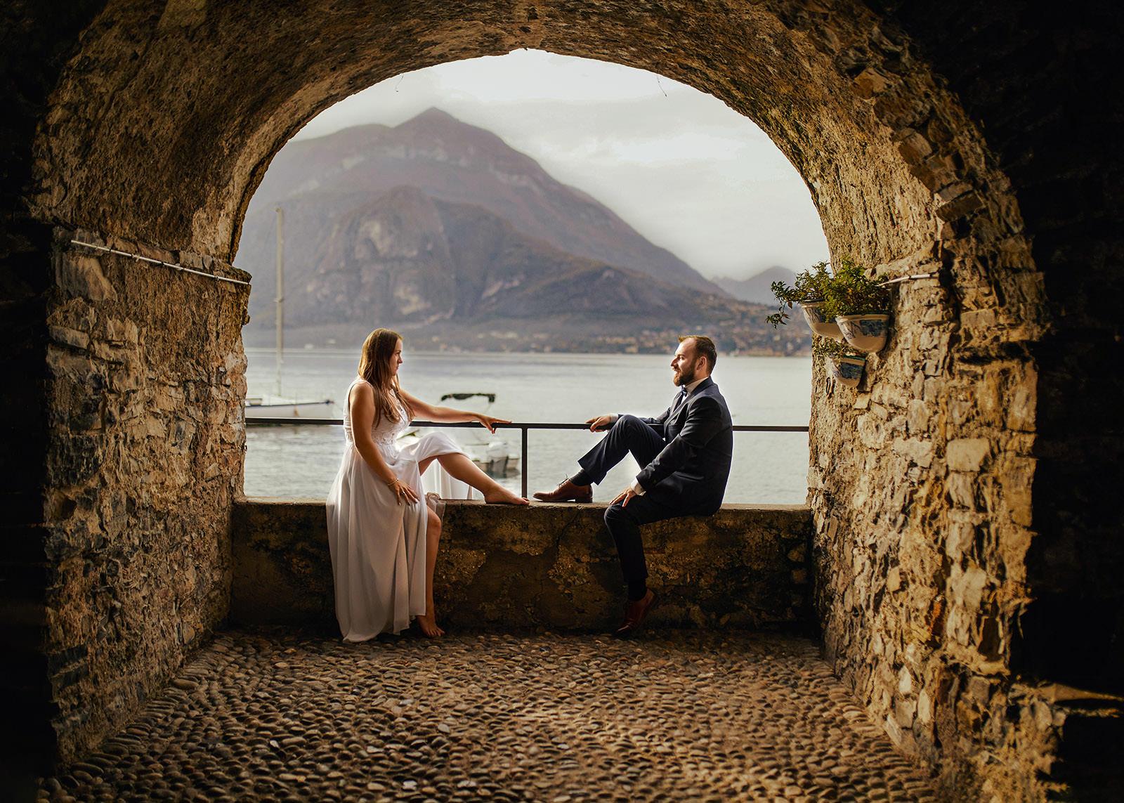Asia i Michał sesja nad jeziorem Como