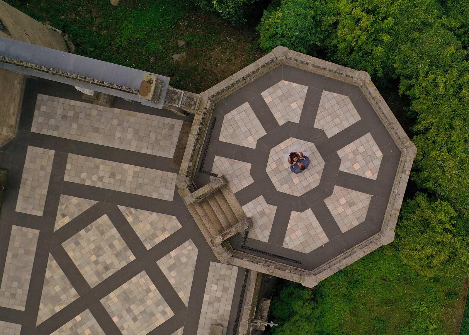 sesja poślubna z drona