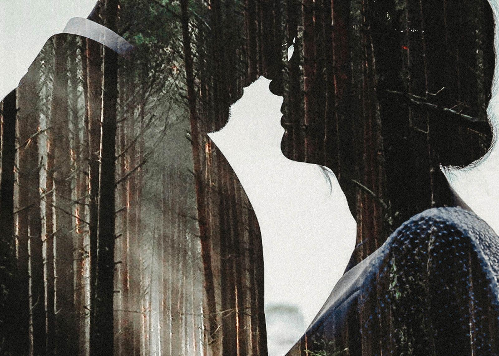 zakochani w lesie